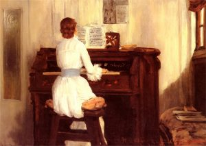 "William Merritt Chase: ""Mrs. Meigs at the piano organ"" (1883)"